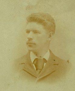 sepia portrait of Henry Ballou